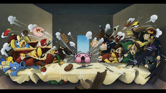 The Final Supper - Smash Bros. Parody Painting