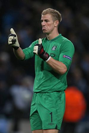 Manchester City goalkeeper Joe Hart produced a string of saves to ensure a draw