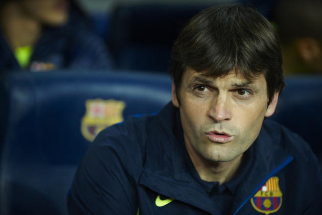 Tito Vilanova, Assistant Coach Of FC Barcelona Looks Getty Images