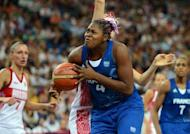 "French centre Isabelle Yacoubou during their women's basketball semi-final against Russia at the London Olympics on August 9. ""They are the best team,"" she said of the Americans. ""We have nothing to lose. We are in the Olympics."""