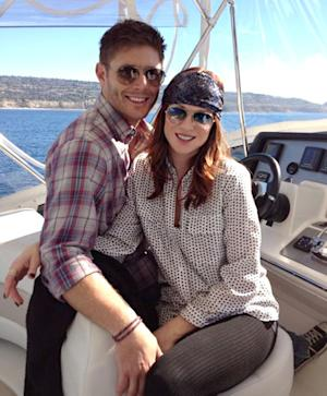 Danneel Harris Shows Off Tiny Baby Bump While Boating With Jensen Ackles