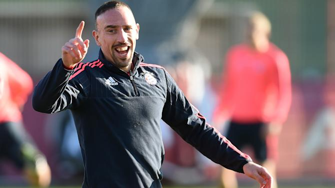 Robben rejoices as Ribery resumes Bayern training