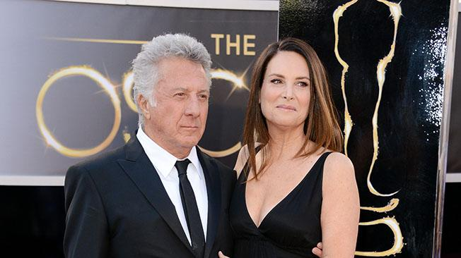 Dustin Hoffman and wife Lisa Hoffman