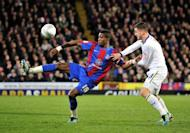 File picture of Crystal Palace's English striker Wilfried Zaha. The youngster gets his international call-up after impressing in the second tier of English football with a string of scintillating displays