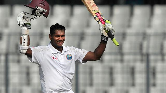 Cricket - Chanderpaul equals best score with double ton