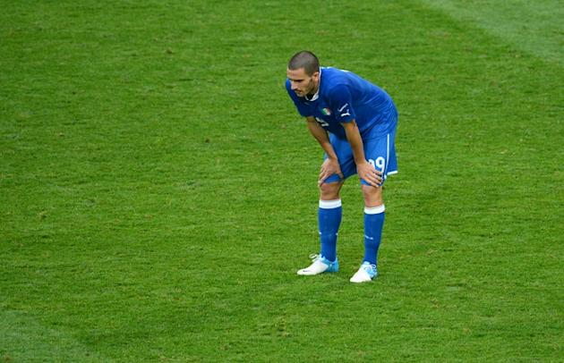 Italian Defender Leonardo Bonucci At The End Of The Euro 2012 Championships AFP/Getty Images