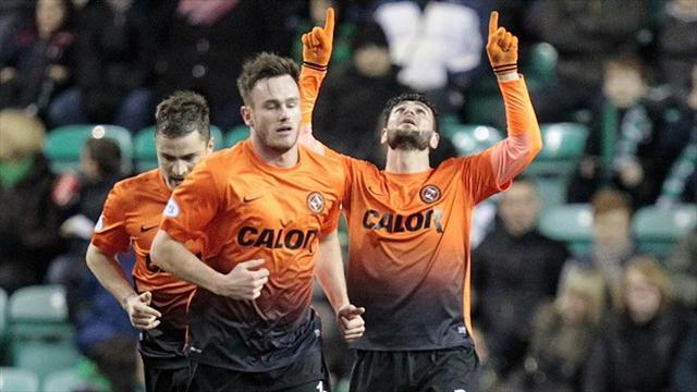 Scottish Football - Dundee United sink 10-man Hibs