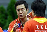 China's table tennis head coach, pictured in 2007, blasted his rivals on Monday, claiming a stronger work ethic will guarantee his players remain top of the international pile