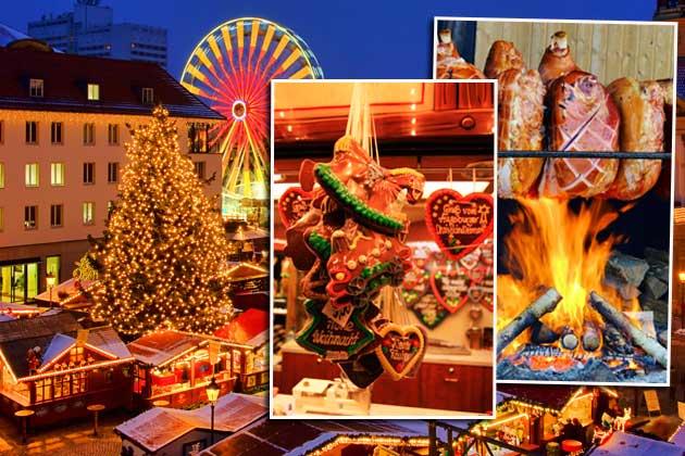 Auf dem Weihnachtsmarkt lauern leckere Kalorienfallen (Bilder: thinkstock)