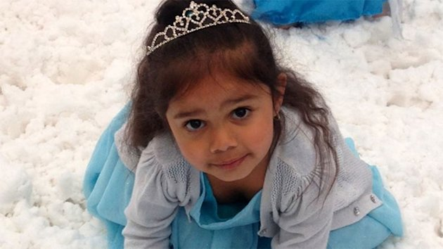 Little Samara Muir was racially vilified while dressed up as Disney's Queen Elsa. Photo: Facebook