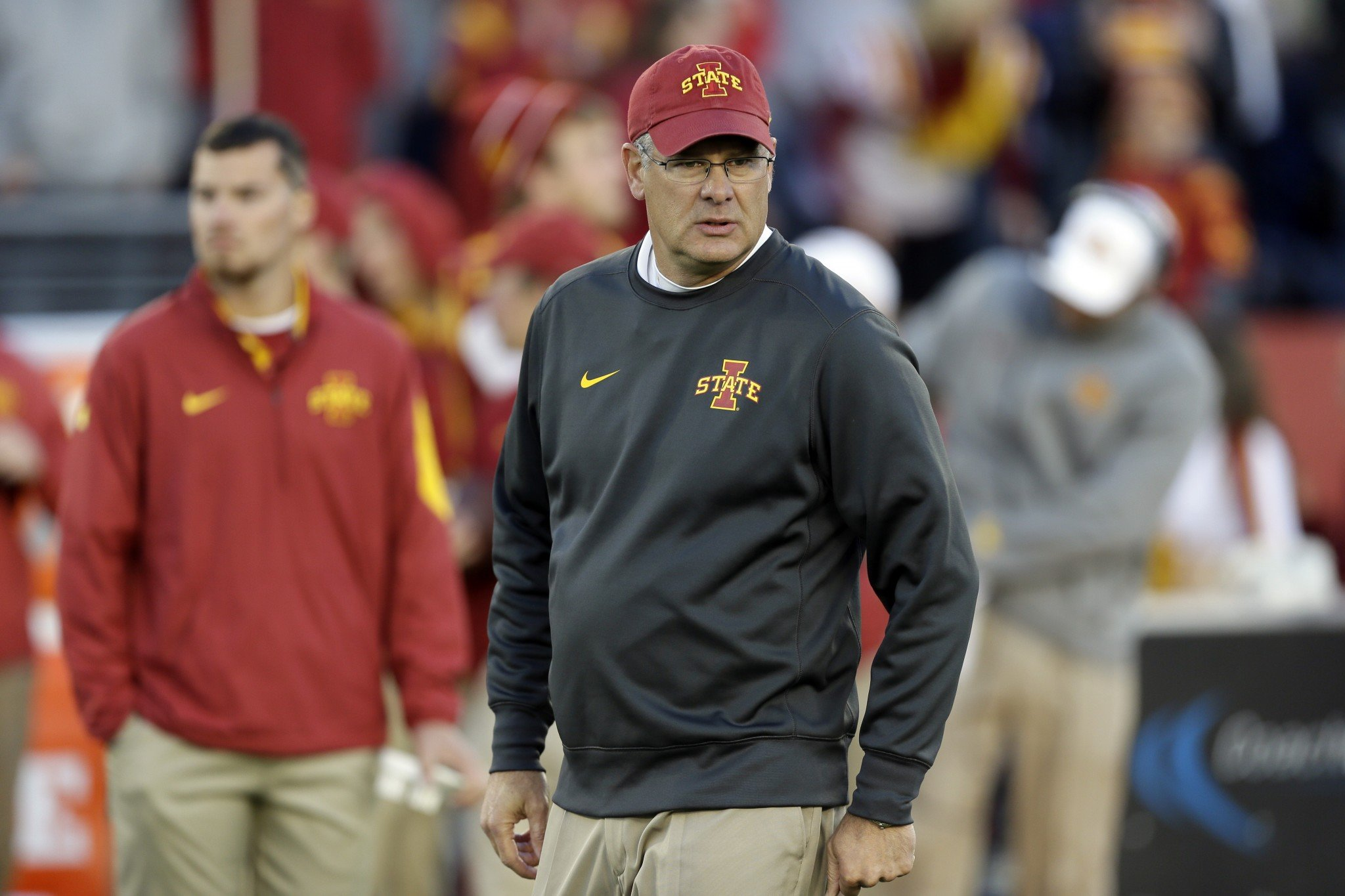 Paul Rhoads was the head coach at Iowa State for seven seasons before landing an assistant role at Arkansas. (AP Photo/Charlie Neibergall)