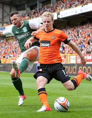Gary Mackay-Steven, right, suffered fractured hand against Ross County