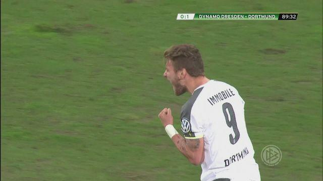 Immobile fires nervy Dortmund through