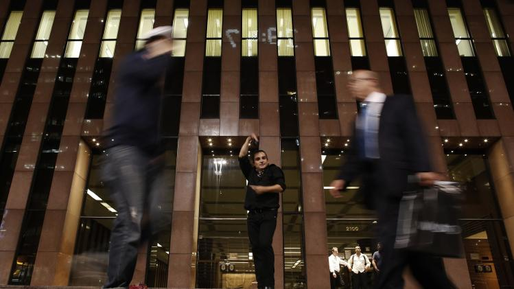Rodriguez of Argentina performs flamenco dance at Paulista Avenue, the financial centre of Sao Paulo
