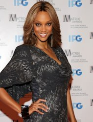 Tyra Banks attends the 2012 Matrix Awards Luncheon at Waldorf Astoria Hotel in New York City on April 23, 2012 -- Getty Images