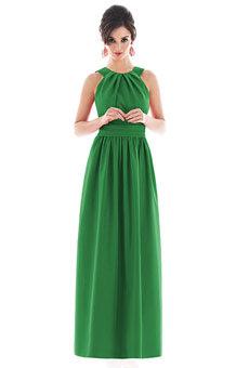 Floor-length halter dress
