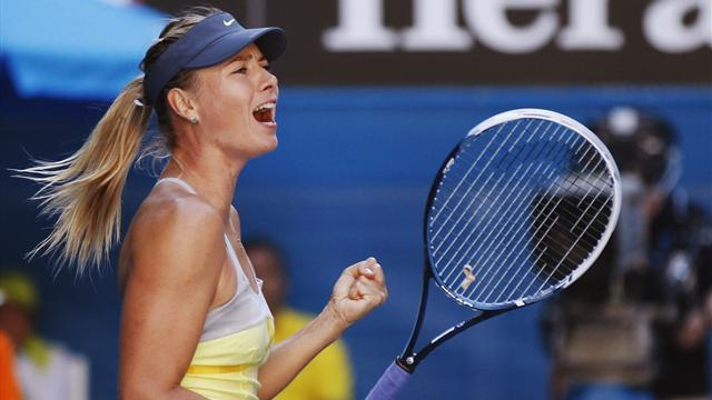Australian Open - Sharapova marches past Makarova into semi-finals