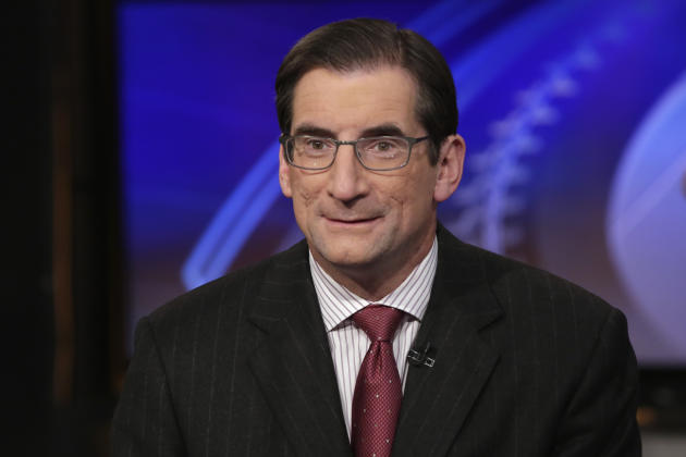 "Nasdaq CEO Robert Greifeld is interviewed by Liz Claman. anchor of the Fox Business Network show ""Countdown to the Closing Bell,"" on the Fox Business Network, in New York, Wednesday, March 4"