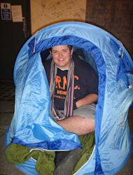Taylor Pelling has become the first in the queue for the new Call of Duty game (Image: SWNS)