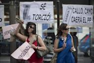 People demonstrate against banking abuses on June 02, in Madrid. Spain's weak banks need at least 40 billion euros (US$50 billion) in new capital to strengthen against severe financial shocks, the International Monetary Fund said