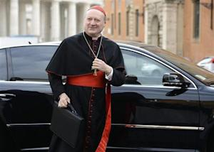 Cardinal Gianfranco Ravasi of Italy arrives for a meeting at the Vatican