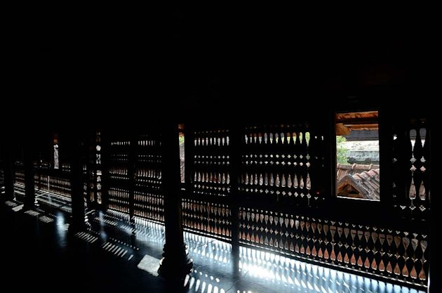 Artistic latticework at the Padmanabhapuram Palace in Tamil Nadu's Kanyakumari district