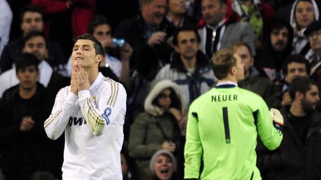 TOPSHOTS Real Madrid's Portuguese Forward Cristiano Ronaldo (L) Reacts AFP/Getty Images