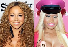 Mariah Carey, Nicki Minaj | Photo Credits: JB Lacroix/WireImage, Dave Kotinsky/Getty Images