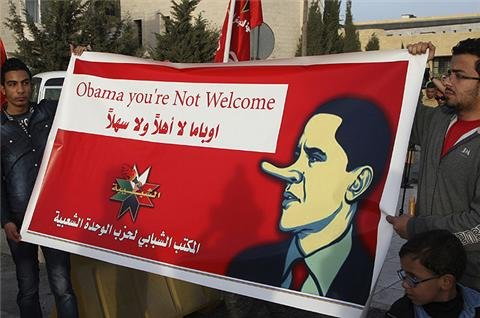 Protests held in Jordan ahead of Obama visit