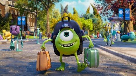 Mike arrives on campus in 'Monsters University'
