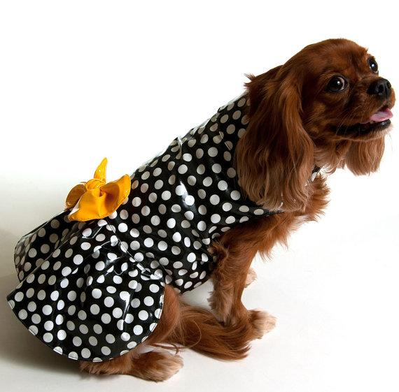 Etsy Dog Raincoat