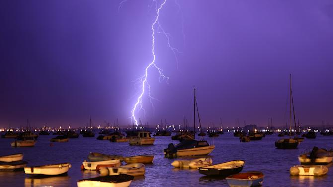 Lightning Storms Over Poole Harbour