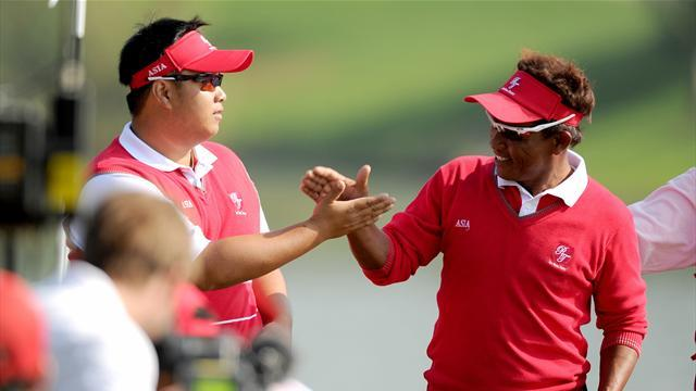 Golf - Asia storm ahead in Royal Trophy
