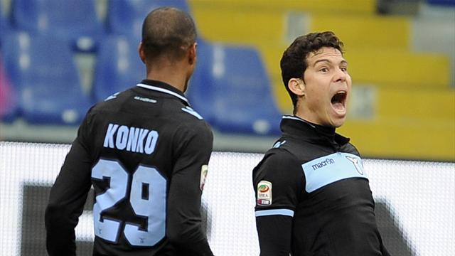 Serie A - Lazio into second after beating Sampdoria
