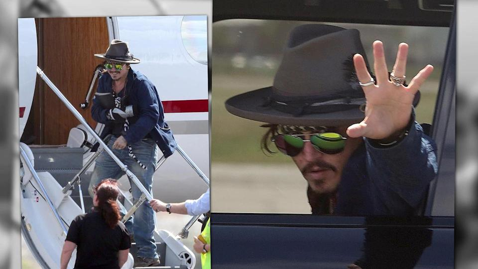Johnny Depp Injured on Set, Flies to U.S. for Surgery
