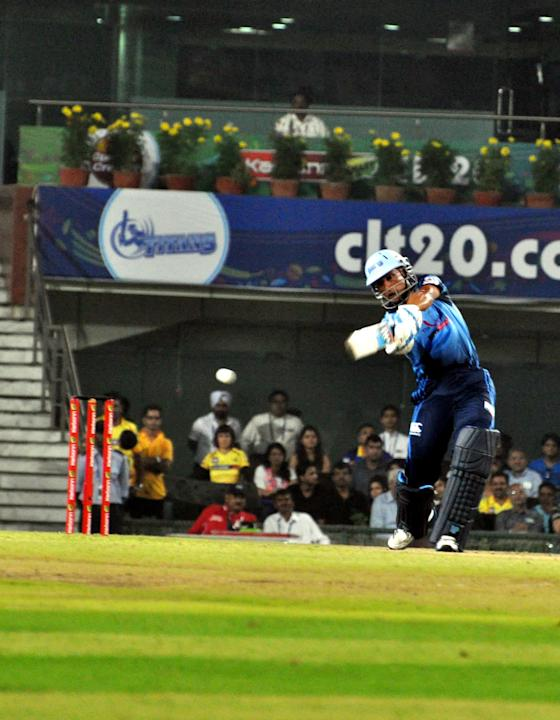 Players of Titans in action during the Champions League T20, 3rd match, Group B, between Chennai Super Kings and Titans at JSCA International Cricket Stadium, Ranchi on Sept. 22, 2013. (Photo: IANS)