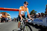 Matt Goss from Australia gets ready for stage two of the 2011 Tour Down Under in Tailem Bend, 2011. Australia cycling coach Matt White said his team planned to take an aggressive approach as they sought to shatter Britain's hopes of early Olympic glory in the men's road race