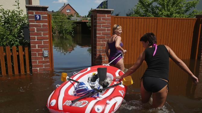 Floods Hit Germany: Elbe And Saale