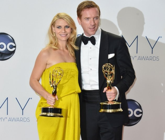 'Homeland' stars Claire Danes and Damian Lewis take top acting honours at the recent Emmys. (Getty Images)