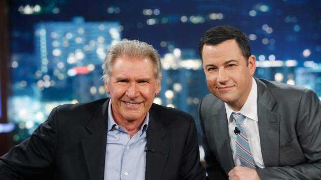 Harrison Ford is all smiles during his visit to 'Jimmy Kimmel Live' on April 17, 2013 -- ABC