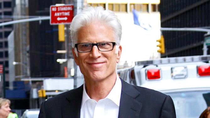 Ted Danson Celbrities Visit Late Show With David Letterman