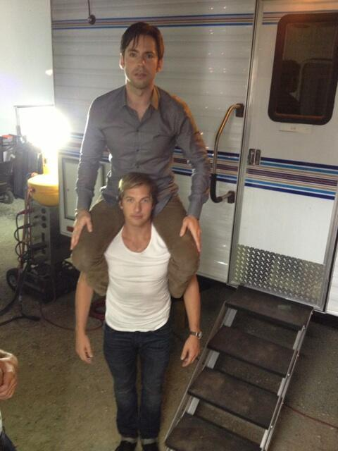 Silly boys. @martinstarr @hiryanhansen @veronicamarsmovie #allnighter