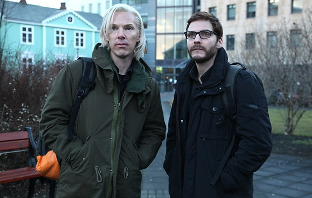 Benedict Cumberbatch, left, plays Julian Assange in 'The Fifth Estate'