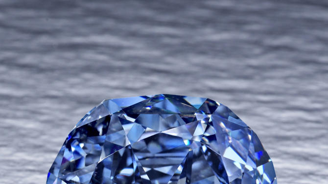 This undated file photo provided by the Smithsonian Institution shows the 31.06-carat Wittelsbach-Graff Diamond. The fancy, deep grayish blue diamond, discovered in India in the 17th century and purchased by London-based jeweler Laurence Graff in 2008 for $24.3 million, is on display at the Museum of Natural History in New York from Thursday, Oct. 28, 2010, through Jan. 2, 2011. (AP Photo/Smithsonian Institution, File)