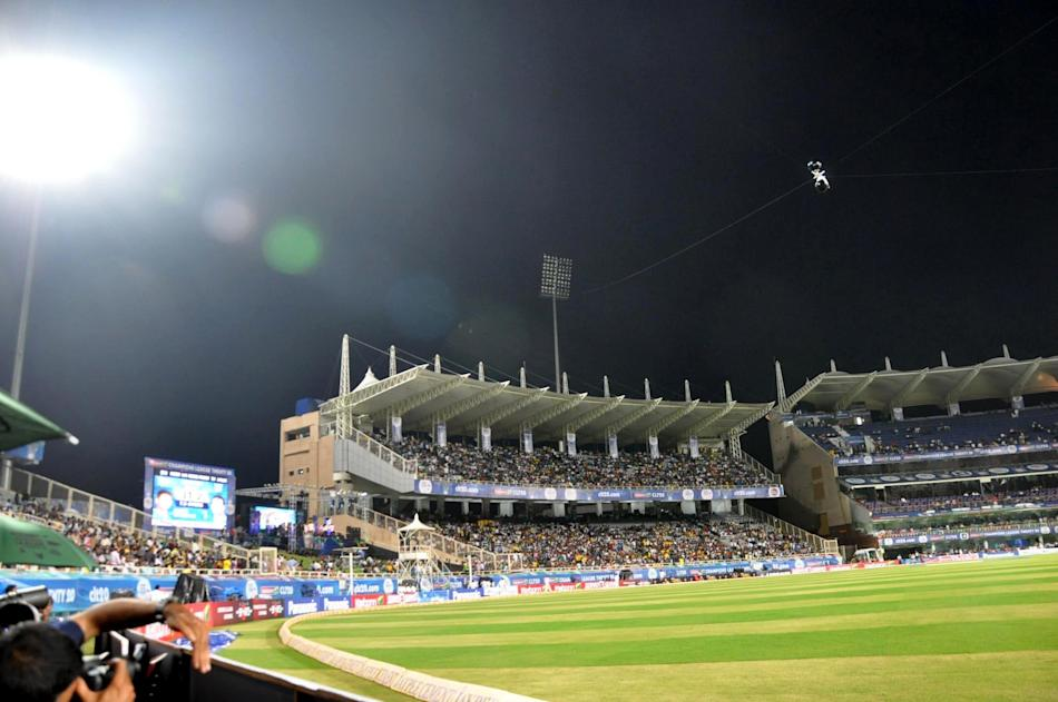 Play was interrupted as the Flood light at JSCA International Cricket Stadium developed snag during the Champions League T20, 2nd match, Group B between Brisbane Heat and Trinidad & Tobago at Ranchi o