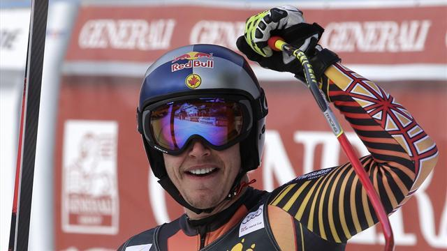 Alpine Skiing - Guay rules second downhill race at Kvitfjell