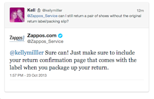 Social Media Shopping Showdown: Online Retailers Compared image zappos returns