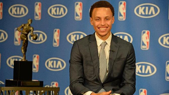Warriors' Stephen Curry voted NBA's MVP over Harden, James
