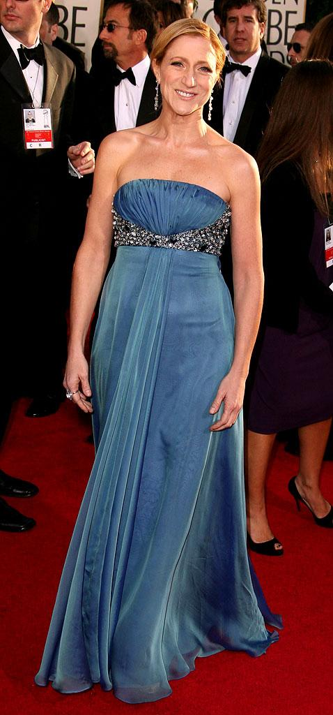 Edie Falco at the 64th annual Golden Globe Awards.