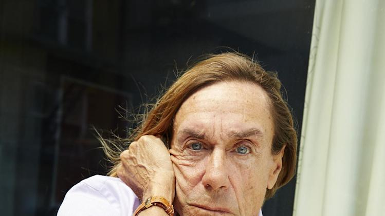 "This May 1, 2013 photo shows Iggy Pop, of Iggy & The Stooges, posing for a portrait to promote his new studio album, ""Ready To Die,"" in New York. Born in relative obscurity at their start 40 years ago, the band continues to get more and more popular with age.  (Photo by Dan Hallman/Invision/AP)"